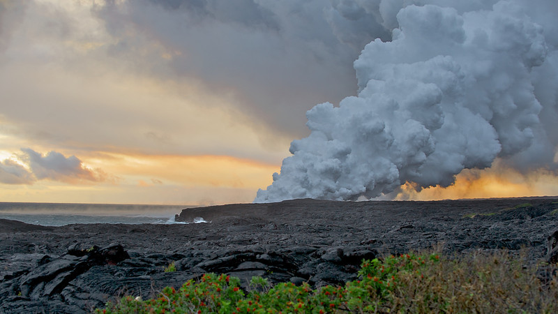 """""""Beauty and the Beast"""" Kiluea Volcano (Photo credit: Patsy Ferrell, ©2009, All rights reserved)"""