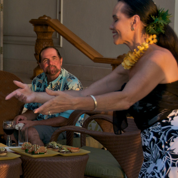 Friday evenings at the Fairmont Orchid Resort with live music and hula dancing. (Photo credit: Patsy Ferrell, ©2010, All rights reserved)