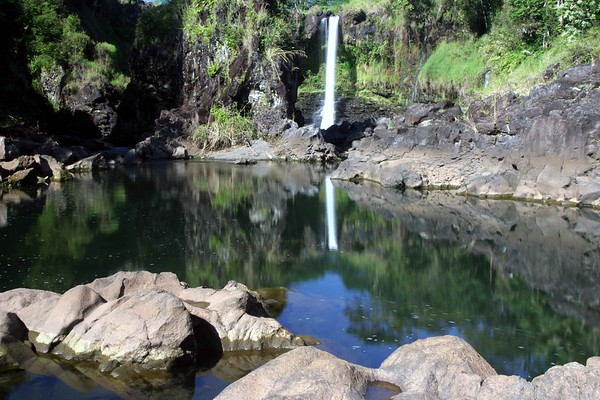 Pe'e Pe'e Falls near the Boiling Pots in Hilo