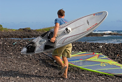 The spot - South Point - Ka`alu`alu Bay...getting ready