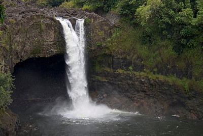 Rainbow Falls with wishbone shape - close to Hilo