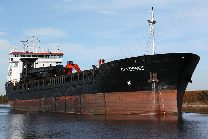 The Clydenes moving slowly up the Ship Canal