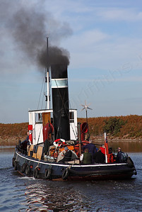 1913 Steam Tug Kerne setting off for Liverpool down the Ship Canal