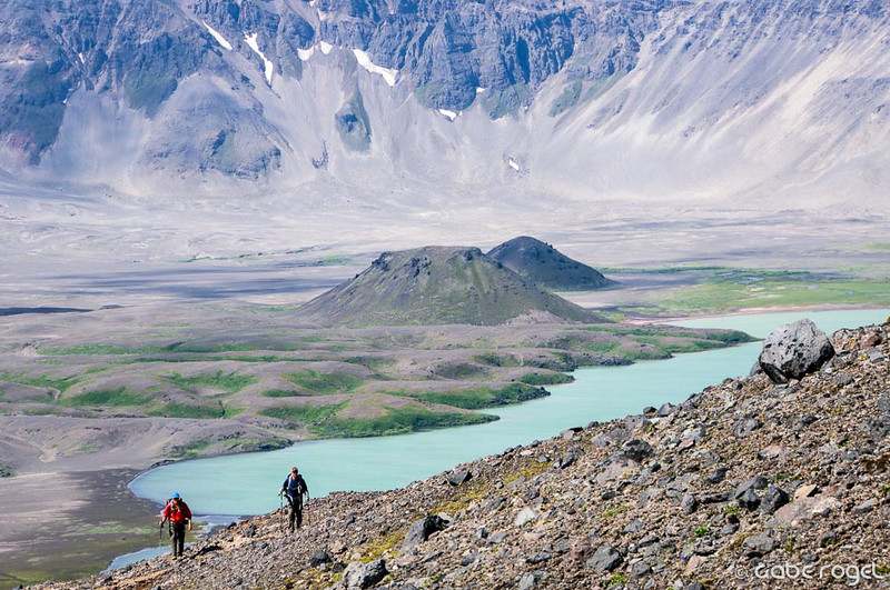 Backpacking in the Aniakchak Caldera, Alaska