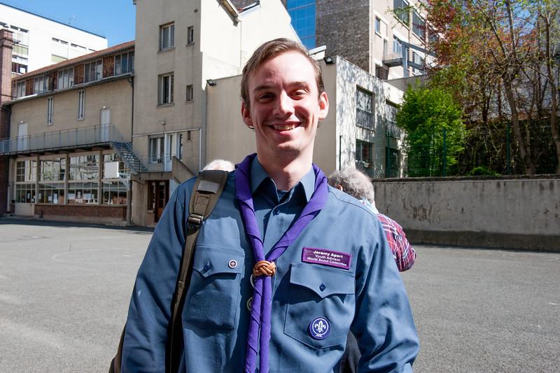 Jérémy est un des 6 conseillers jeunes du comité mondial du scoutisme, élu cet été. Il est français !