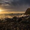Sunset at Limekiln State Park, Big Sur, November 2016.