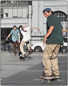 Skateboarder at Embarcadero.