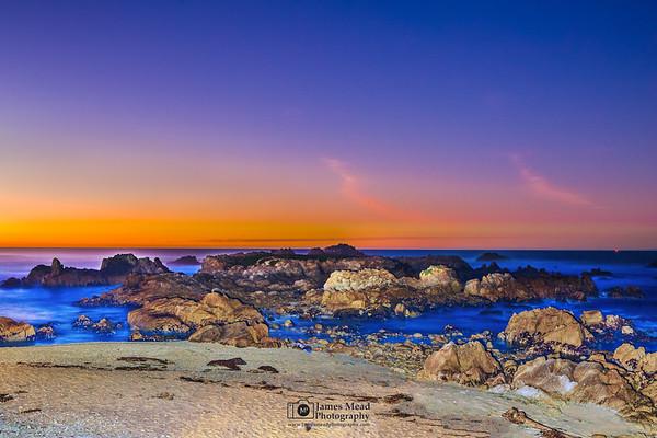 """Pacific Twilight,"" Twlight over the Pacific Ocean, Big Sur, California"