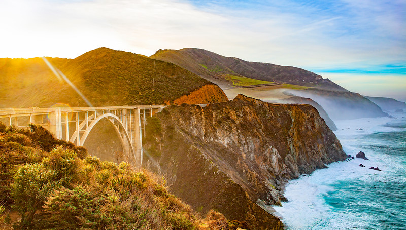 Big Sur Bixby Bridge in morning sun