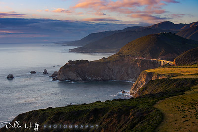 Last Light on Bixby Bridge, Big Sur, California