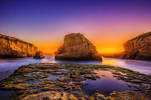 """""""Medusa's Revenge,"""" Sharkfin Cove Sunset, California"""