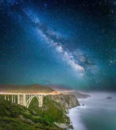 Bixby Bridge by Starlight