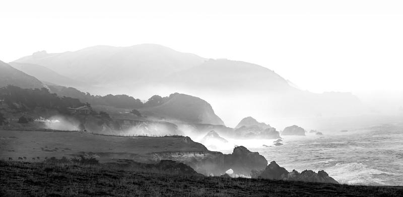 Morning spray along Highway 1 in Big Sur