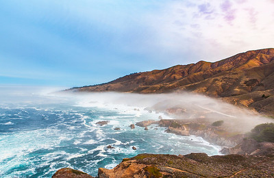 View from Sobranes Point at Sunrise, Big Sur