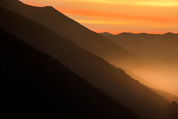 Big Sur Hills in morning light
