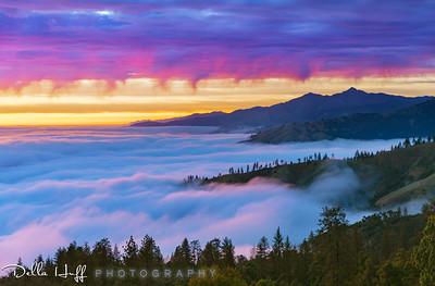 Pastel Flow, Big Sur, California