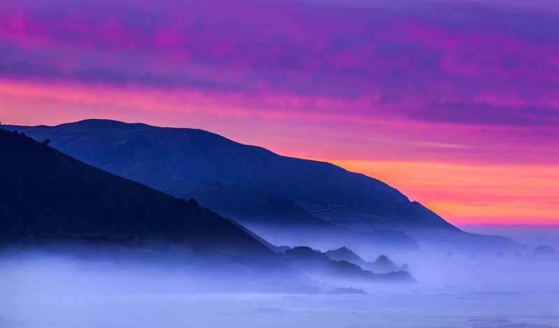 Before the sun rises in Big Sur