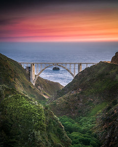 Bixby Bridge from Old Coast Road