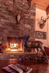 Crackling fires made for relaxing evenings