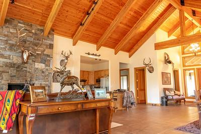 Interior den and kitchen