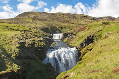 Skogafoss Canyon Waterfall