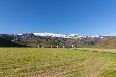 Eyjafjallajokull towering over Big Farm