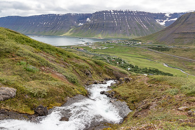 Bunarfoss Hike - Isafjordur in distance