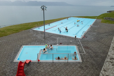 Hofsos town Geothermal Pool and Hot tub overlooking Skagafjord