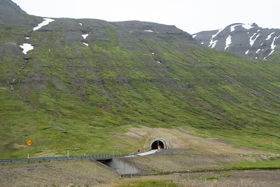 One lane tunnel to Siglufjordur