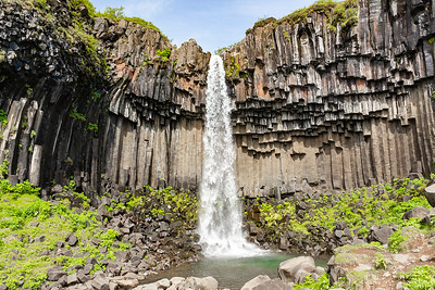 Svartifoss and Basalt cove