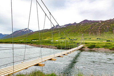 Svarfadardalur Nature Reserve Swing Bridge