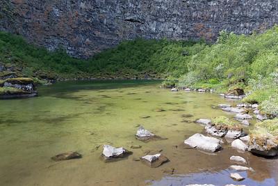 Botntjorn Pond at Asbyrgi