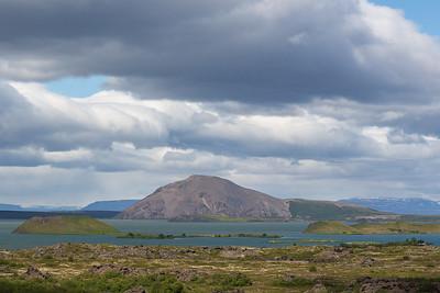 Vindbelgjarfjall Mountain and Myvatn Lake