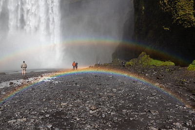 Skogafoss and Double Rainbow