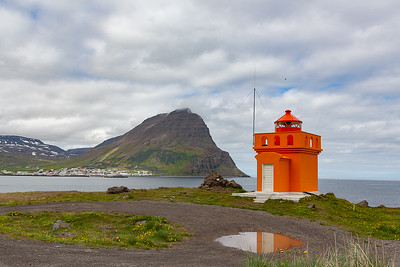 Lighthouse across from Bolungarvik
