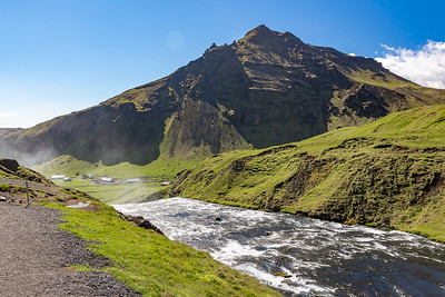 At top of Skogafoss