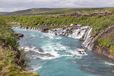 Hraunfossar Waterfall