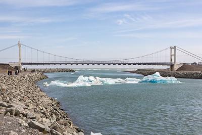 Jokulsarlon Glacier Lagoon Outlet