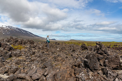 Djupalonssandur & Dritvik Cove Hike - crossing Lava Fields
