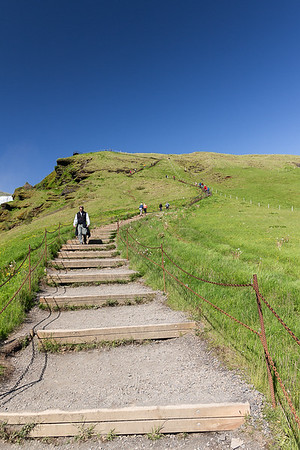 500+ Steps to top of Skogafoss