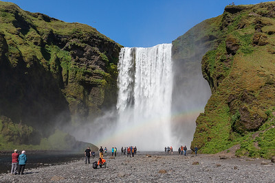 Skogafoss and Rainbow
