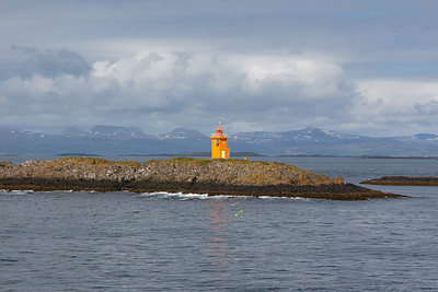 Ferry across Breidafjord - Lighthouse