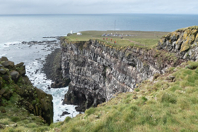 Latrabjarg Bird Cliffs and Lighthouse