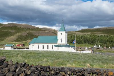 Church in Reykjahlid town