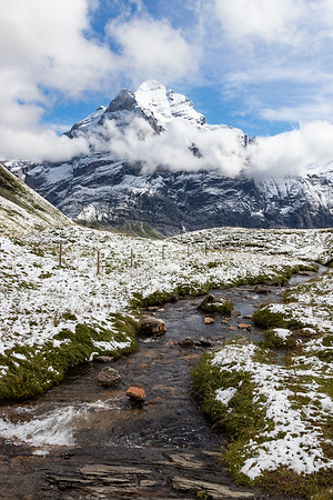 Stream and the Wetterhorn