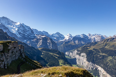 Mountains and Lauterbrunnen Valley