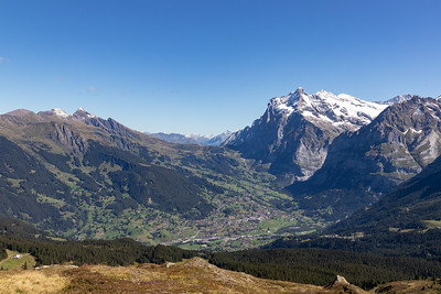 Grindelwald Down Below, Wetterhorn Dominating