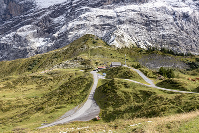 Our Destination:  Bus Stop in Grosse Scheidegg