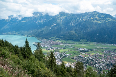 View of Brienzersee and Bonigen/Interlaken