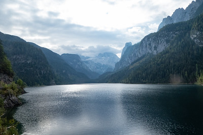 Early Morning View of Gosausee and Dachstein Mountains